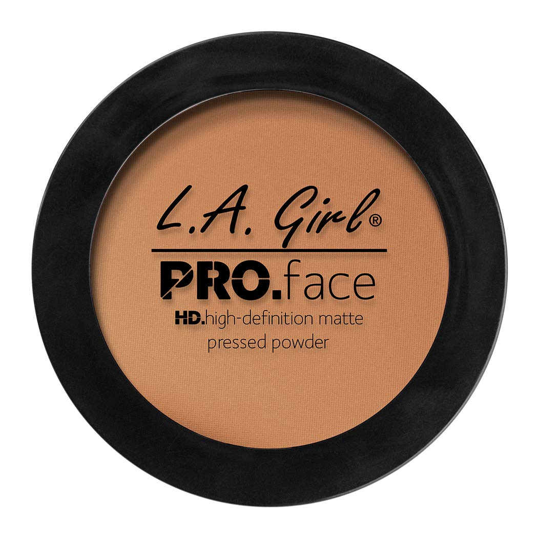 L.A. Girl Pro Face HD Matte Pressed Powder, Toffee, 0.25 Ounce (Pack of 3)