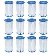 Bestway Pool Filter Pump Replacement Cartridge Type - IV (12-Pack) | 58095