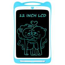 Ksera LCD Writing Tablet for Kids, 12 Inch Electronic Writing Drawing Doodle Board Tablet Digital Ewriter Pad with Screen Lock Gift for Kids Home School Handwriting Pad Memo Notebook (Blue)
