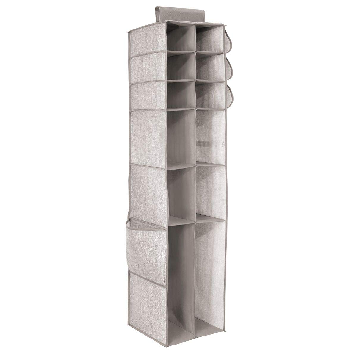 iDesign InterDesign 16-Shelf and Pocket Chevron Linen Aldo Boot & Accessory Organizer