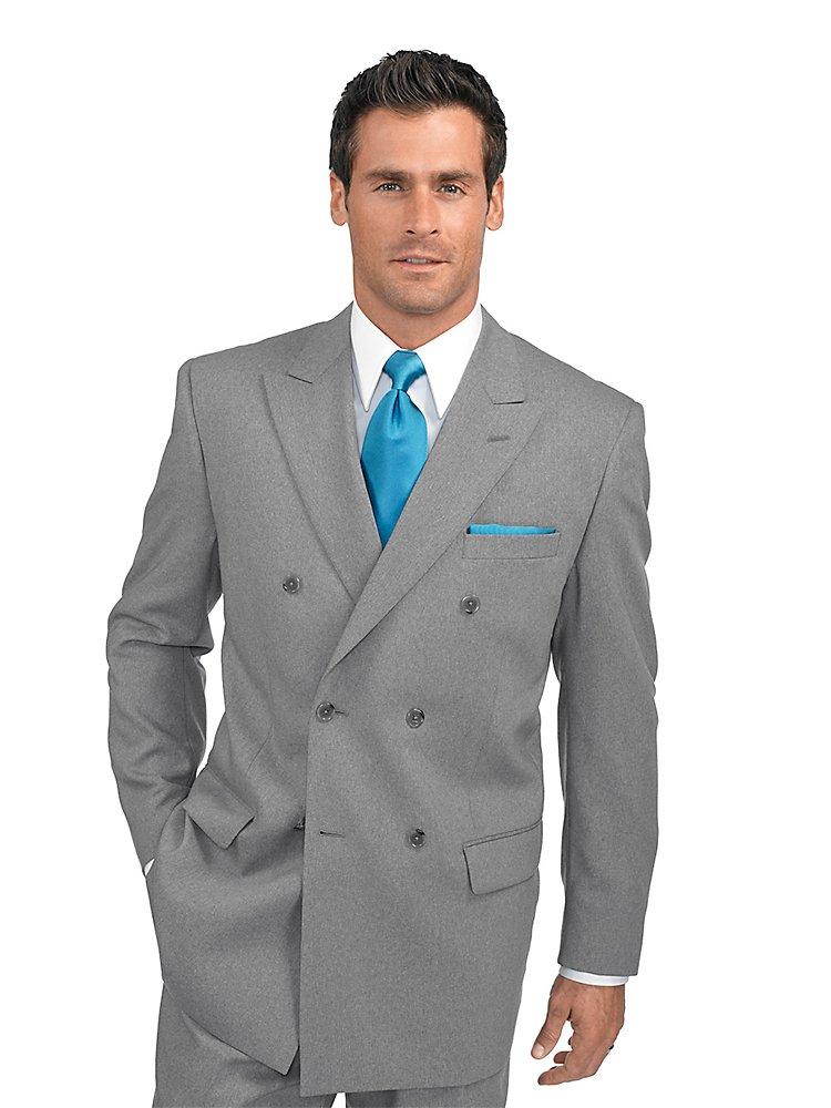 Paul Fredrick Men's Wool Peak Lapel Suit Jacket
