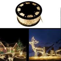 Walcut Crystal Clear PVC Tubing LED Rope Light