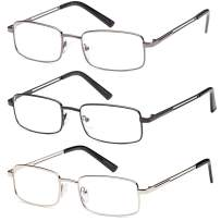 Reading Glasses 3X Stainless Flex 1.00 Readers