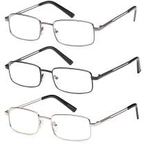 Reading Glasses 3X Stainless Flex 4.00 Readers