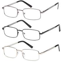 Reading Glasses 3X Stainless Flex 1.00 Readers