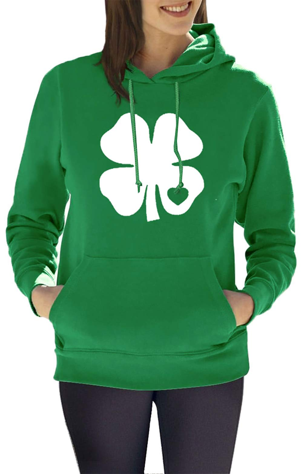 For G and PL Women's St. Patrick's Day Green Hoodie with Pocket