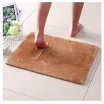 NICE LIFE Recycled Bathroom Mat Microfiber Shower Mats for Bathroom, Camel Bathroom Rugs 20x32 Inches, Non-Slip Machine Washable, Soft Plush Carpet for Bathroom, Tub, Shower, Camel