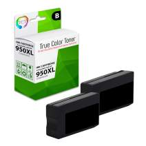 TCT Compatible Ink Cartridge Replacement for HP 950XL 950 XL CN045AN Black Works with HP OfficeJet Pro 251DW 276DW MFP Printers (2,300 Pages) - 2 Pack