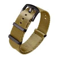 Ritche Military Ballistic Nylon Watch Strap with Heavy Buckle 18mm 20mm 22mm Premium Nylon Watch Bands for Men Women