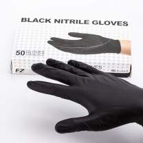 EZTAT2 Black Disposable Tattoo Nitrile Gloves for Tattooing Body Piercing Application Latex Powder Free Water Oil-Proof Safety Gloves Kitchen Medical House-Hood Test Small, Box of 50