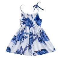 YOUNGER TREE Toddler Baby Girls Summer Floral Dress Sleeveless Princess Party Casual Holiday Dress Beach Sundress