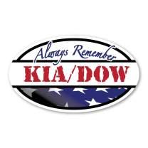 KIA - DOW Always Remember Oval Magnet