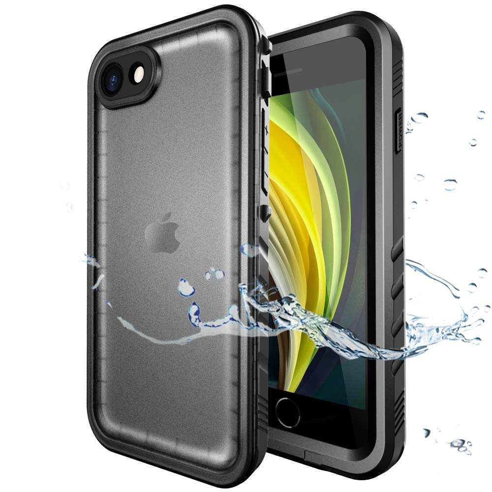 SPORTLINK Waterproof Case for iPhone SE 2020/iPhone 7/8, Full Body Heavy Duty Protection Full Sealed Cover Shockproof Dustproof Built-in Clear Screen ...