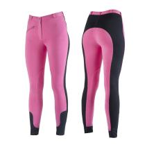 HORZE Women's Soft Knee Patch Breeches with Front Pocket, All-Weather Full Seat Horse Riding Pants for Adult Woman