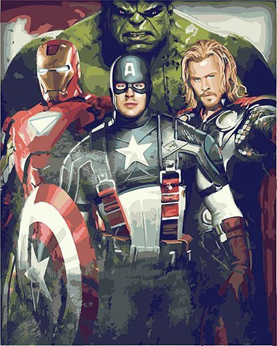 DoMyArt Acrylic Paint by Number Kit On Canvas for Adults Beginner - Avengers 16X20 Inch (JUST Canvas)