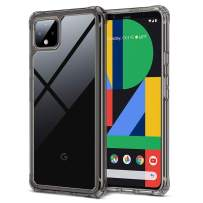 ESR Air Armor Clear Case for Pixel 4 XL Case, [Shock-Absorbing] [Scratch-Resistant] [Military Grade Protection] Hard PC + Flexible TPU Frame, for The The Google Pixel 4 XL (2019 Release), Black