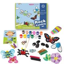KIDDYCOLOR Rock Painting Kit Art and Crafts for Boys Girls Ages 6-12 Painting Art Supplies Crafts for Kids