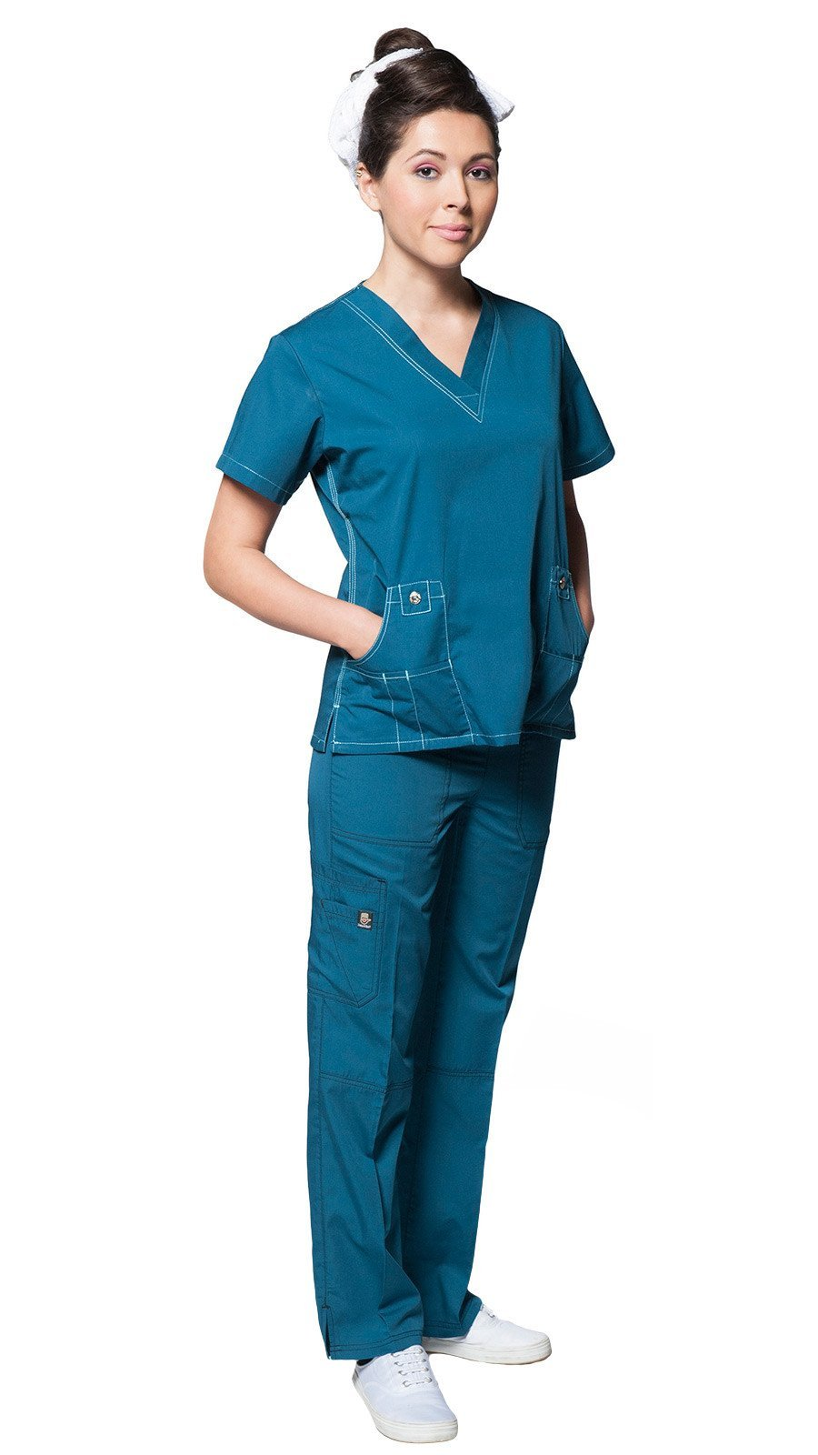 Dress A Med Women's Designer Double Stitched Medical Scrubs