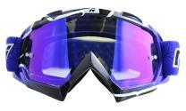 NENKI Motocross Goggles NK-1019 MX ATV Off Road Dirt Bike Goggles For Unisex Adult (Techline Blue,Anti Fog Mirrored Lens)