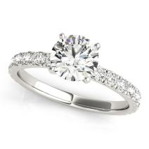 0.50 Ctw. Handcrafted Distinctive Diamond Engagement Wedding Ring 10K White Gold