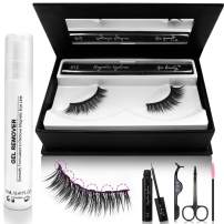 Magnetic Eyelashes and Eyeliner Kit, 3D Reusable False Lashes and 6ml Waterproof Magnetic Eyeliners Set with Mirror Box, Natural Look Fake Eye Lashes (No Glue Needed)
