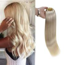 Full Shine 20 Inch Blonde Clip Hair Extensions Human Hair Remy Clip on Extensions 7 Pcs 100 Gramram Per Set Color 60 Plantinum Blonde Double Wefted Clip In Real Hair