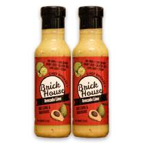Avocado Lime - Vegan Salad Dressing & Marinade by Brick House Vinaigrettes. Keto / Paleo / Low Sodium / Low Carb / Low Sugar / Gluten Free / Dairy Free With Non-GMO Hemp Oil & Grapeseed Oil (2-pack).