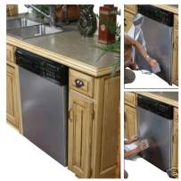 """No Paint!! As Seen On TV Peel and Stick Dishwasher Cover Stainless Steel Film BRUSHED Nickel Film Update appliances 36"""" W x 36"""" L"""