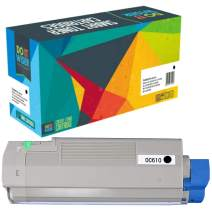 Do it Wiser Remanufactured Toner Cartridge Replacement for Oki C610 C610n c610dn   44315304 (Black)