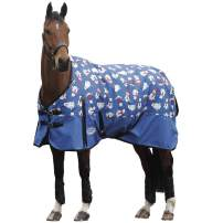 Comfitec Essential - Midweight Horse Blanket 600D, Waterproof and Breathable Standard Neck Turnout - Great for Fall - Polar Bear Print
