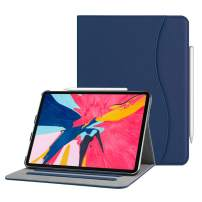 "Fintie Case for iPad Pro 11"" 2018 [Supports 2nd Gen Pencil Charging Mode] - Multi Angle Viewing Folio Cover with Pocket [Secure Pencil Holder] Auto Sleep/Wake for iPad Pro 11 2018, Navy"
