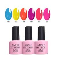 AIMEILI Gel Nail Polish Soak Off UV LED Gel Nail Lacquer Combo Color Set Of 6pcs X 10ml - Kit Set 11