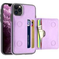 LakiBeibi iPhone 11 Pro Max Case with Card Holders, Dual Layer Lightweight PU Leather iPhone 11 Pro Max Phone Case Wallet Folio Flip Durable Protective Case for iPhone 11 Pro Max (2019), Purple