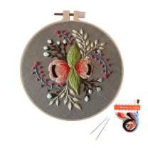 Louise Maelys Embroidery Starter Kit Full Range Flower Cross Stitch Kits for Beginner Funny Hand Needlepoint Kits for Home Decor Gift