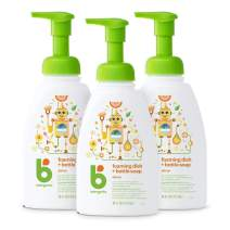 Babyganics Foaming Dish & Bottle Soap, Pump Bottle, Citrus, 16oz, 3 Pack, Packaging May Vary