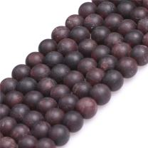 """JOE FOREMAN Garnet Beads for Jewelry Making Natural Gemstone Semi Precious 6mm Round Frosted Matte Antiqued 15"""""""
