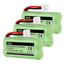 iMah BT184342/BT284342 Cordless Phone Battery Pack Compatible with Vtech AT&T BT18433/BT28433 BT1011 BT1018 BT1022 BT1031 CS6219 CS6229 DS6151 Motorola L602 L701 Handset, Pack of 3