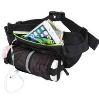 ACBungji Fanny Pack with Water Bottle Holder for Running Hiking Dog Walking-Waist Bag Belt Hold Phone for Women Men Kids Waist 19-43 Inch