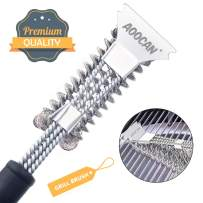 Aoocan Grill Brush and Scraper 18'' BBQ Brush Bristle Free, Great Grill Cleaning Brush for Weber Grill, Safe Cleaner Grilling Accessories
