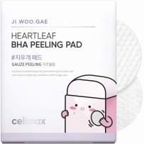 Celimax Ji.Woo.Gae Heartleaf BHA Peeling Pad, Smooth but Effective Facial Exfoliating Toner Pad, 60pads