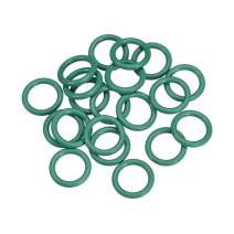 uxcell Fluorine Rubber O Rings, 16mm OD, 11.2mm Inner Diameter, 2.4mm Width, Seal Gasket Green 20Pcs