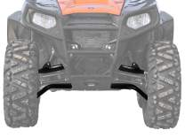 """SuperATV High Clearance Front A-Arms for Polaris RZR 570 (2012+) - 1.5"""" Forward Offset - Black"""