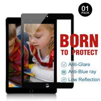 PERFECTSIGHT Screen Protector for iPad Pro 9.7 Inch iPad 2017/2018 /Air 1/2 [Eye Care Medical Device] Anti Glare Blue Light Filter Radiations Anti Fingerprint Tempered Glass