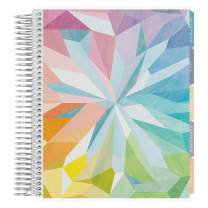Erin Condren 18 - Month 2019-2020 Coiled Life Planner 7x9 (July 2019 - December 2020) - Kaleidoscope, Horizontal (Colorful Layout). Daily Agenda with Monthly Calendar Tabs