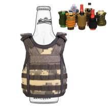 SINAIRSOFT Beer Vests Beverage Cooler Tactical Mini Molle Adjustable Shoulder Straps Beverage Holder for 12oz or 16oz Cans and Bottles