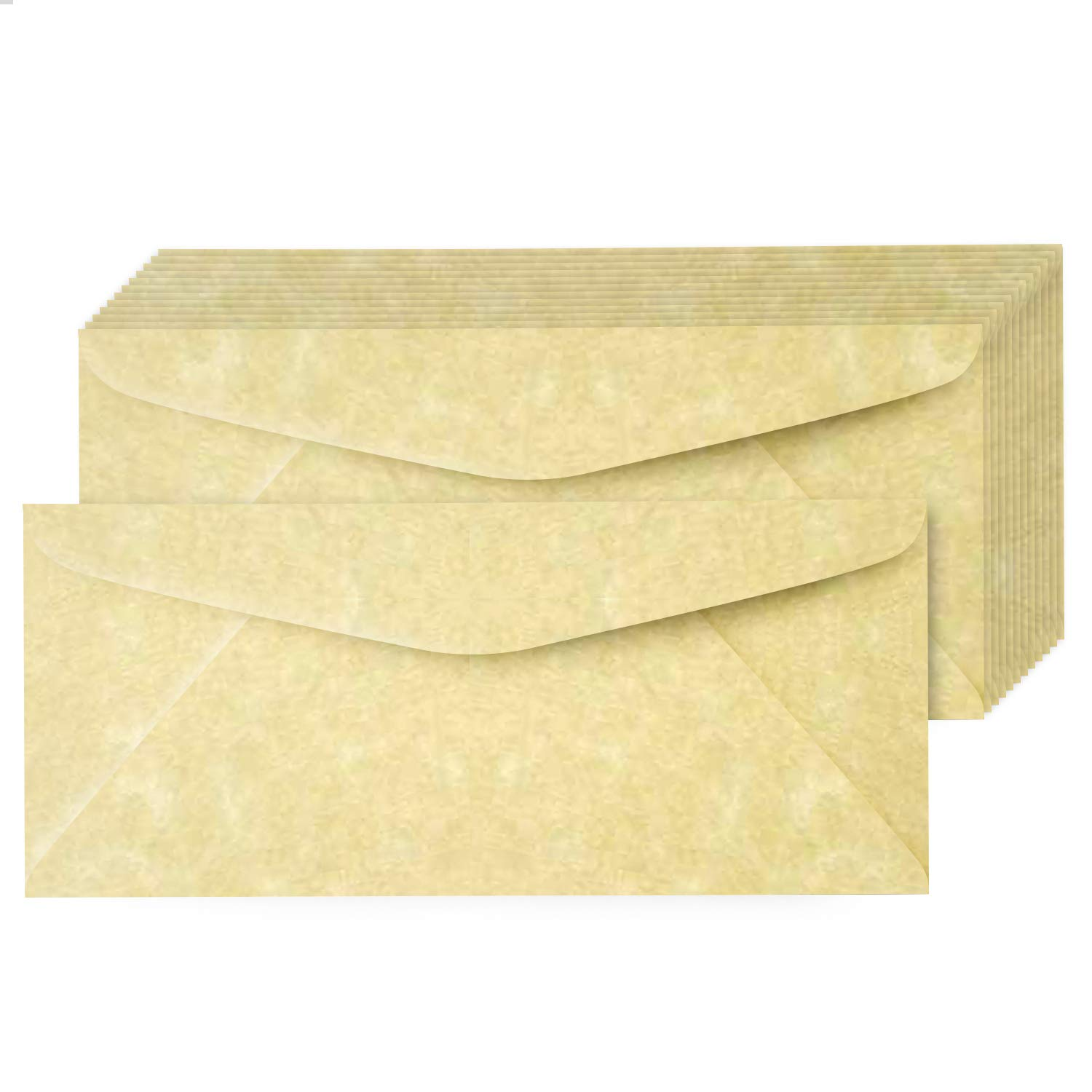 Ancient Gold #10 Astroparche Parchment Business Envelopes – Perfect for Invitations, Greetings, Holiday, Office, Invoices, Letters, Mailings   4 1/8 x 9 1/2 Inches   50 Per Pack