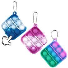 surgicalonline 3Pcs Mini Push pop Bubble Fidget Sensory Toys, Mini Keychain Toy, Bubble Popper Anxiety Relief Autism Toy, Help Restore Emotions Gift for Adult Kids (Color5)