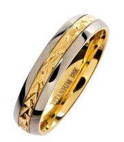 MJ Metals Jewelry 18K Gold Plated Wedding Band Grade 5 Titanium 5mm or 7mm Ring