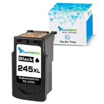 InkWorld Remanufactured 245XL Ink Cartridge Replacement for Canon PG-245 XL to Use with Pixma MG2520 TR4520 TS302 TS3120 TS202 MG2920 MG2922 MX492 MG2525 MX490 MG2522 MG3020 MG2420 Printer (1 Black)