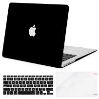 MOSISO Plastic Hard Shell Case & Keyboard Cover Skin & Screen Protector Only Compatible with MacBook Air 11 inch (Models: A1370 & A1465), Black